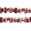 Bow Beads (Farfalle) 3.2x6.5mm Light Red Labrador Transparent